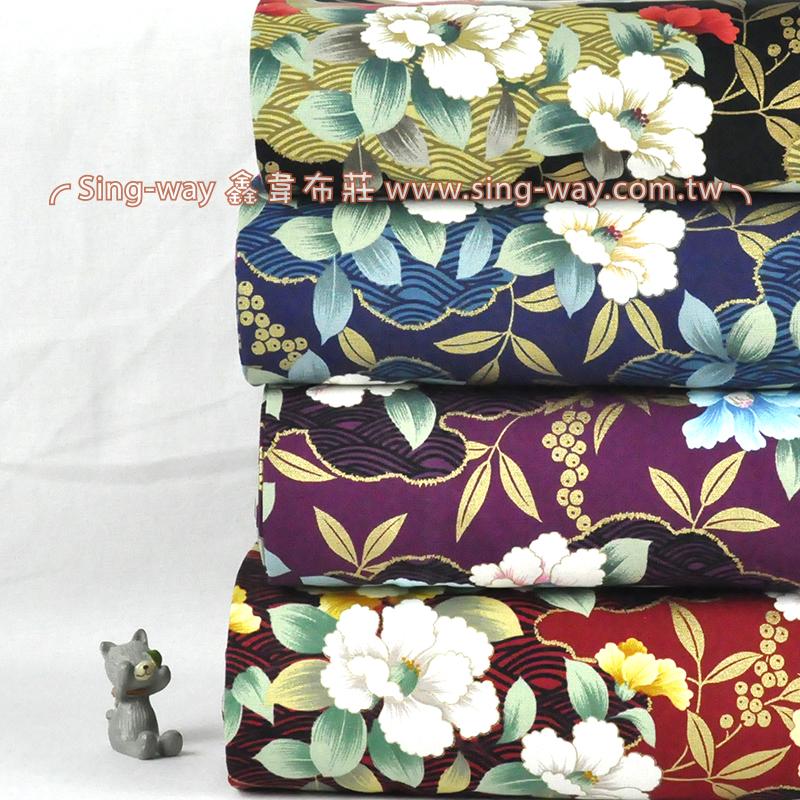 金蔥百花 富貴花卉 手工藝DIy拼布布料 CF550554