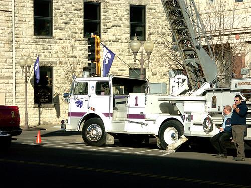 Woodstock Fire Department Ladder Truck Veteran S Day Par