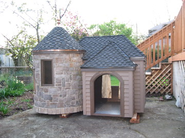 Dog House With Coveresd Porch