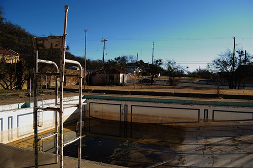 The Baker Hotel Pool An Empty Lifeguard Chair Overlooks A Flickr