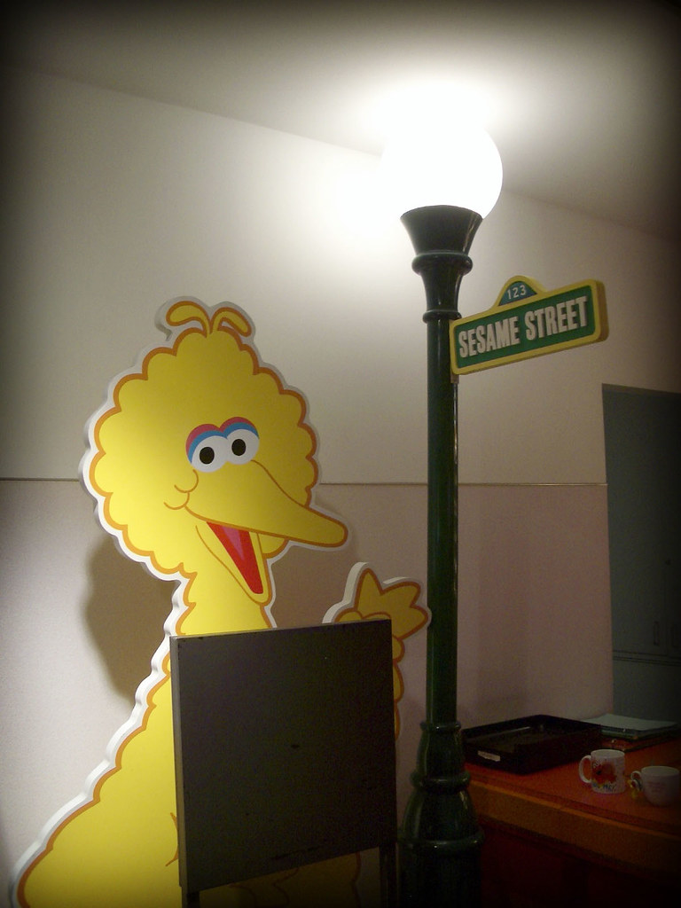 Sesame workshop big bird and the sesame street lamp post thadd sesame workshop by thadd sesame workshop by thadd aloadofball Image collections