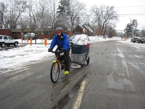 Hauling trash on a bicycle | by WNPR - Connecticut Public Radio
