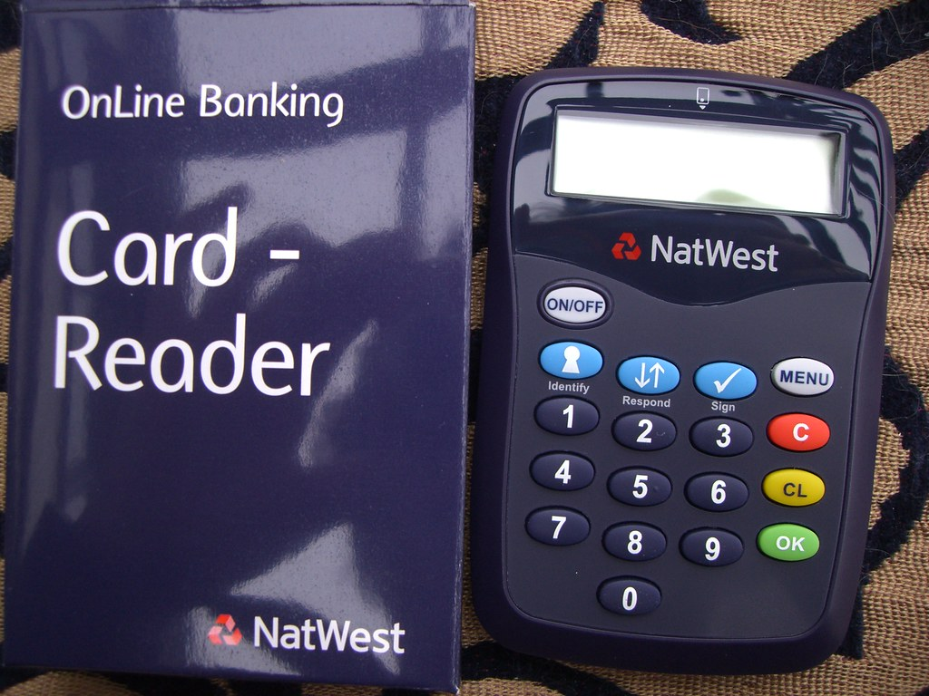 natwest card reader extra security for online banking per flickr