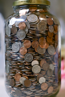 Trip Coinage in a One Gallon Jar | by Seth Dillingham