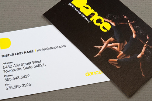 dance company business card