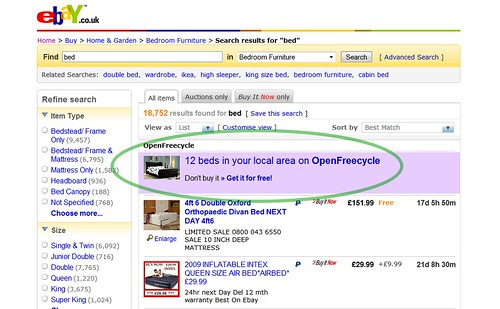 OpenFreecycle on eBay, with Greasemonkey | by premasagar