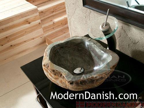 Cobble Sink Royale Natural Boulder Unique Gem Stone Bathroom Vessel Sink By