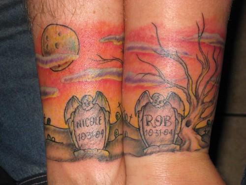 Graveyard Wedding Anniversary Tattoo By Jon Poulson Flickr