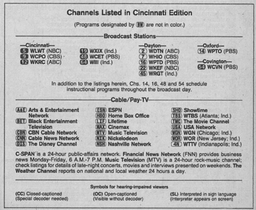Cincinnati Edition September 14 1985 From My Tv Guide