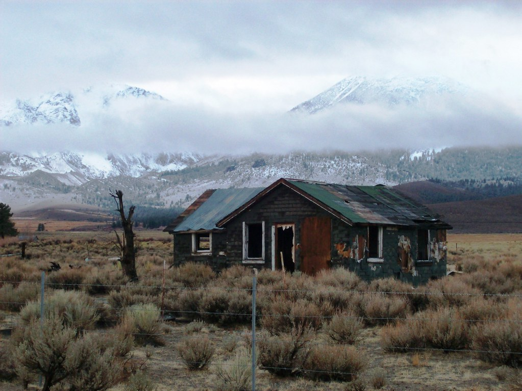 Abandoned home off Highway 395 just south of Lee Vining, C ...