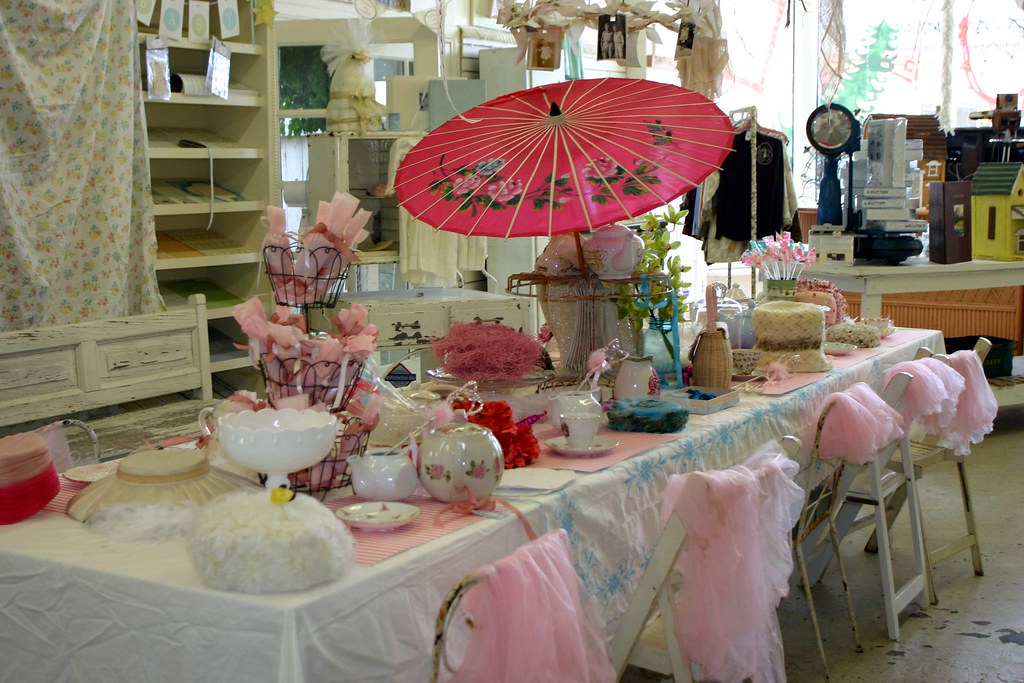 Whimsical birthday tea party the setting of my for Kitchen tea table setting ideas