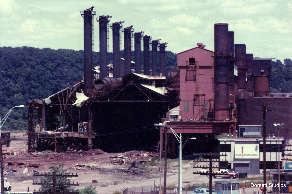 U S Steel Homestead Works A Scanned Color Print Of The