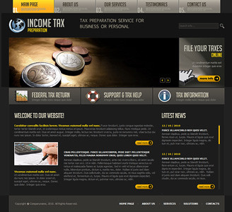 tax website template
