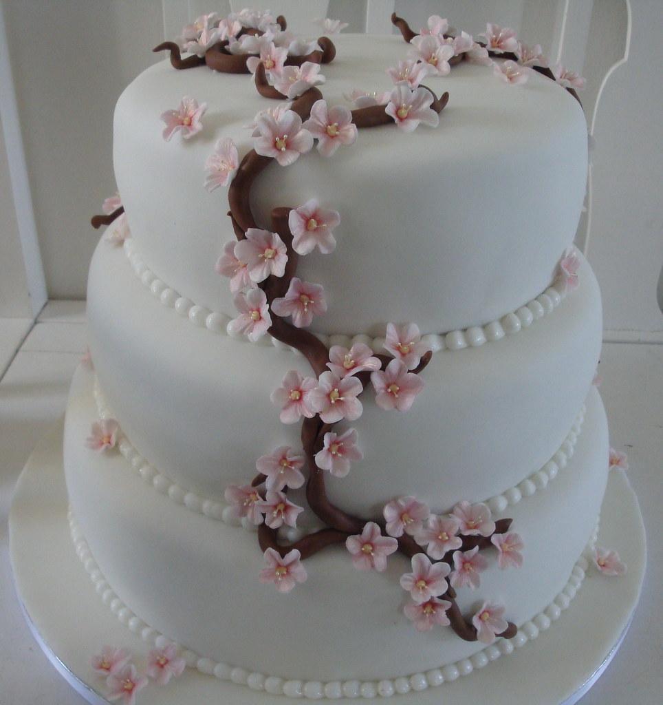 Cherry blossom wedding cake   Cherry blossom wedding cake ...