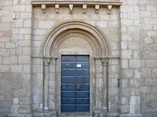 Colegiata de Santa María la Real de Sar  Portada norte o ...
