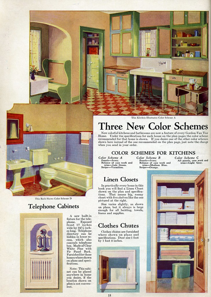 Interior color vintage kitchen color scheme for 1920 for 1930s bungalow interior design