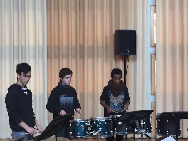 Trobada de conservatoris - alumnes de percussió