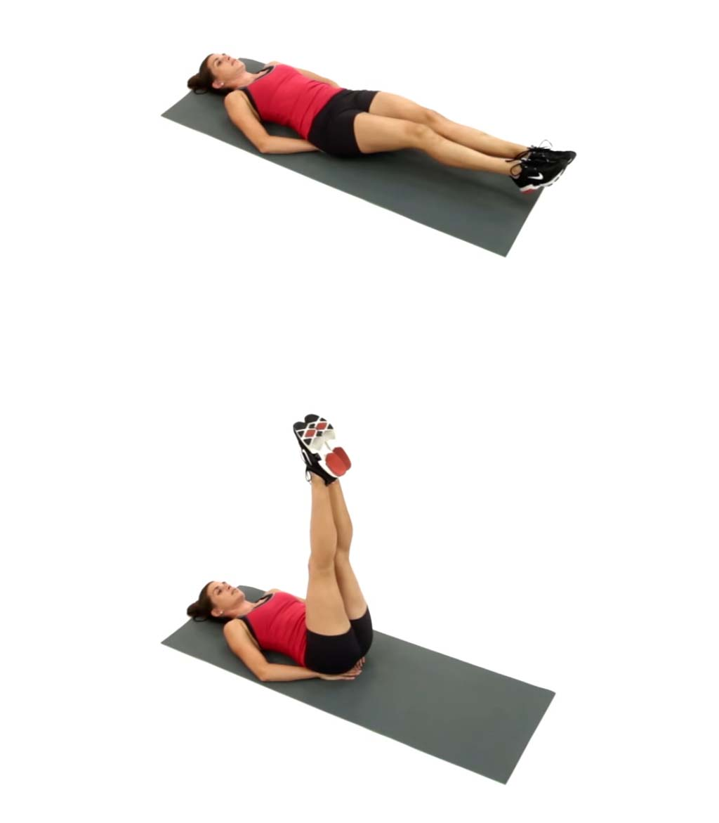 Exercises To Get Flat Stomach & The Sexiest Abs #6: How To Make Double Leg Lifts