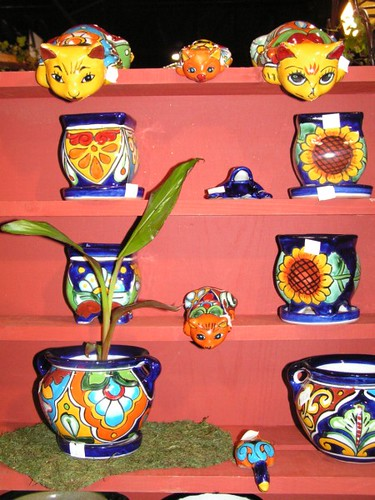 colorful painted flower pots for sale 1 from a booth in