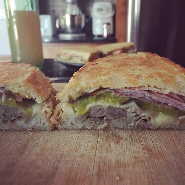 Homemade cubano for lunch. Couldn't resist after having one in DC.