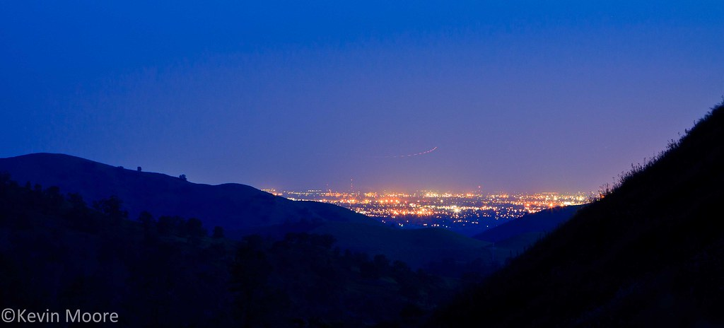 ... Fresno City Lights From Above Millerton Lake   By Kevin Moore IMAGES