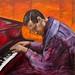 Bill Evans 36X35 Inches (91X89 cm) acrylic on canvas