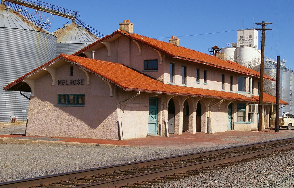 Melrose Nm Train Station Built In 1907 By Santa Fe Now