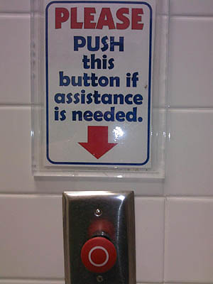 Panic Button In Women S Bathroom Of Course It Was