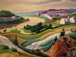Thomas Hart Benton 'Lewis and Clark at Eagle Creek' 1967, The Eiteljorg  Museum of American Indians and Western Art, Indianapolis, Indiana | by hanneorla