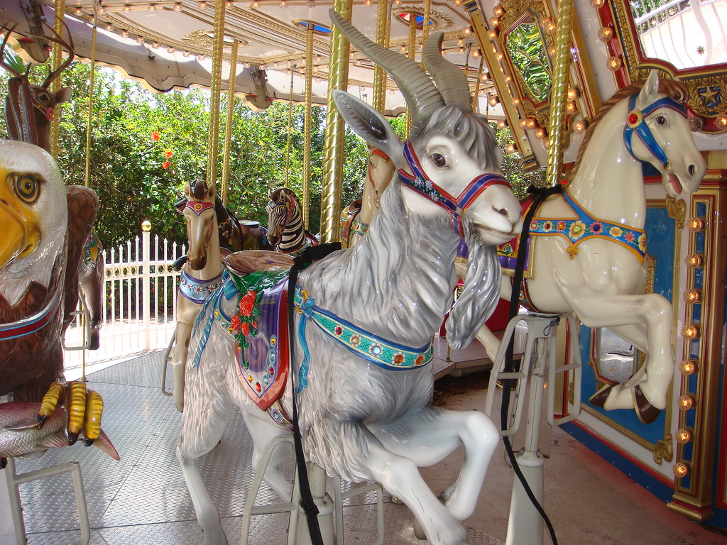 carousel goat palm beach zoo at dreher park has a