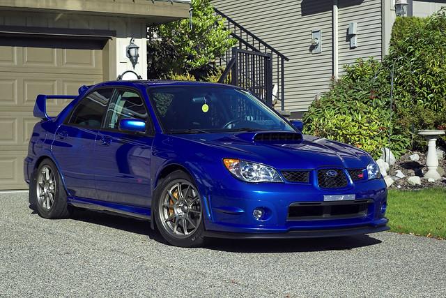 2006 Subaru Impreza WRX STI | WedsSports TC105N wheels ...