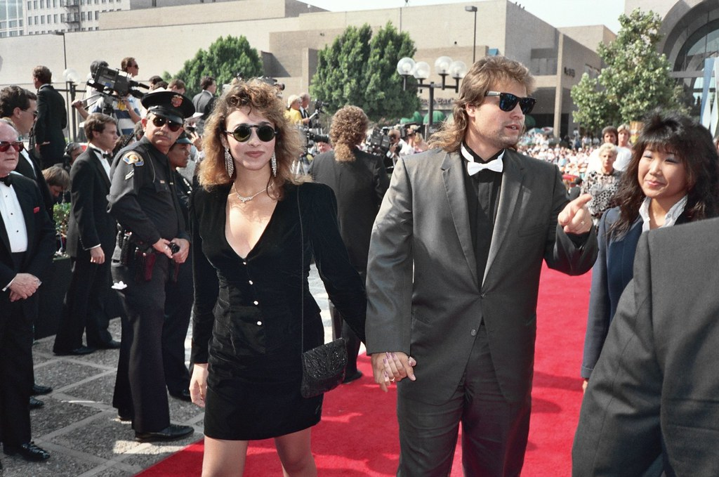 Gina Nemo with Peter DeLuise | 1988 Emmy Awards NOTE ...