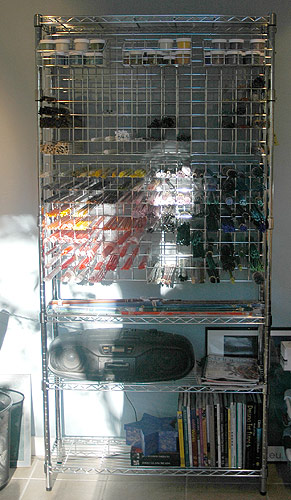 glass storage rack | by Pam Brisse