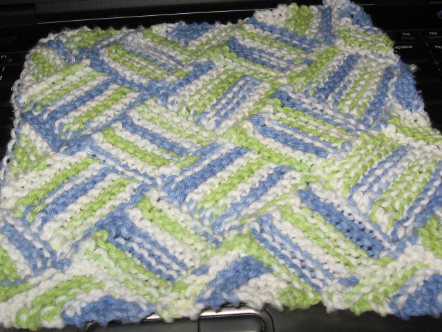 Entrelac Knitting Dishcloth Pattern : Entrelac dishcloth Easy and quick knit, my first project w? Flickr