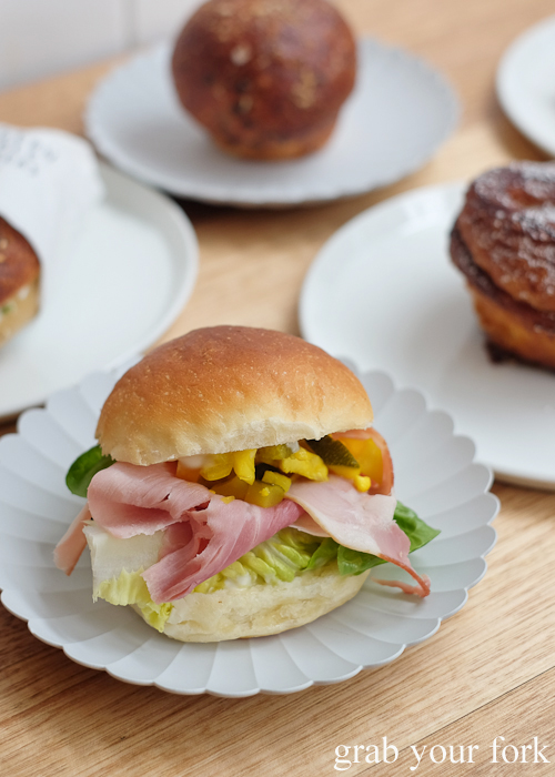 Ham slider at Pigeon Whole Bakers in Hobart Tasmania