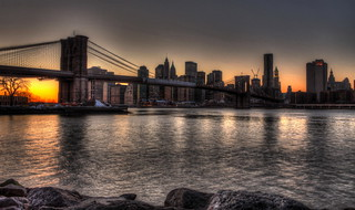 Brooklyn Bridge around sunset - Symphony in silver and Orange | by 1982Chris911 (Thank you 5.500.000 Times)