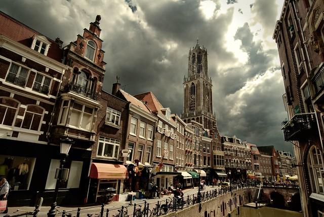 Dom Van Utrecht Utrecht Oudegracht Dom