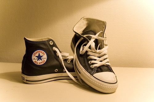 Black Leather Converse Shoes Cheap