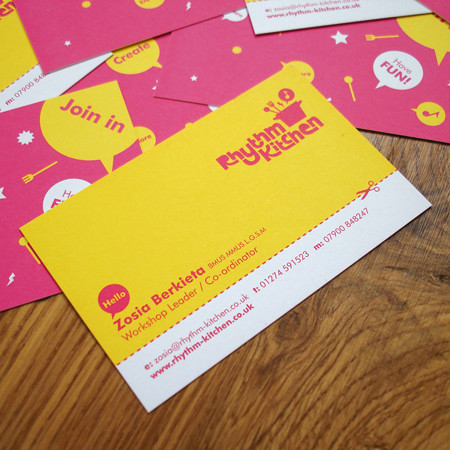 Rhythm Kitchen business cards | by Studio MIKMIK