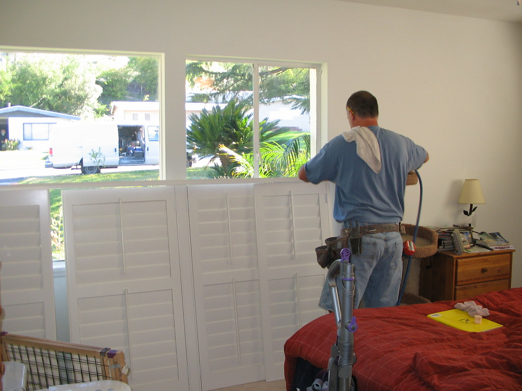 New Shutters Being Installed In Master Bedroom The Den Had Flickr