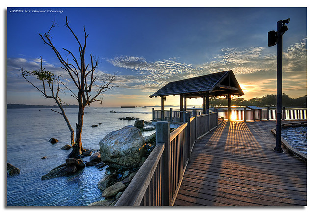 Changi Boardwalk | Taken at Changi Beach, Singapore. A ...