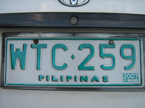 OLD CAR PLATE NUMBER IN THE PHILIPPINES | by PINOY PHOTOGRAPHER