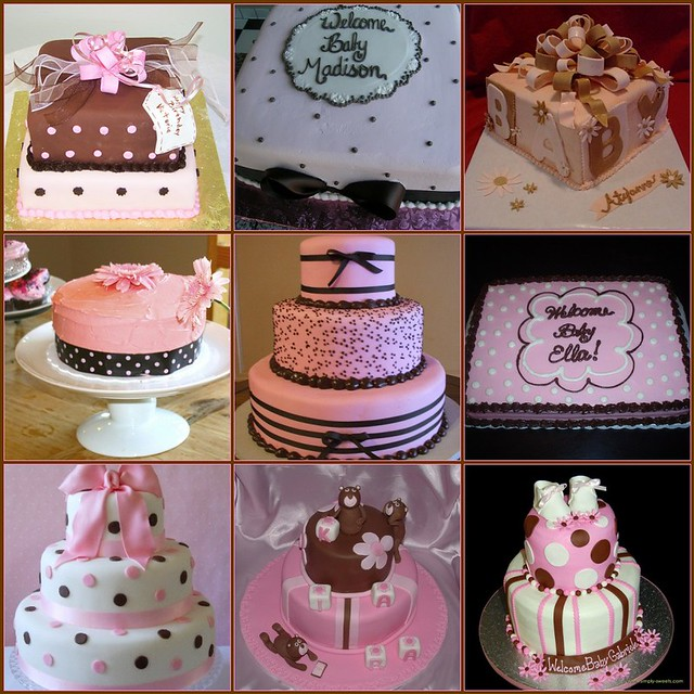 Ideas For Pink And Brown Baby Shower Cake I Am Making For Flickr