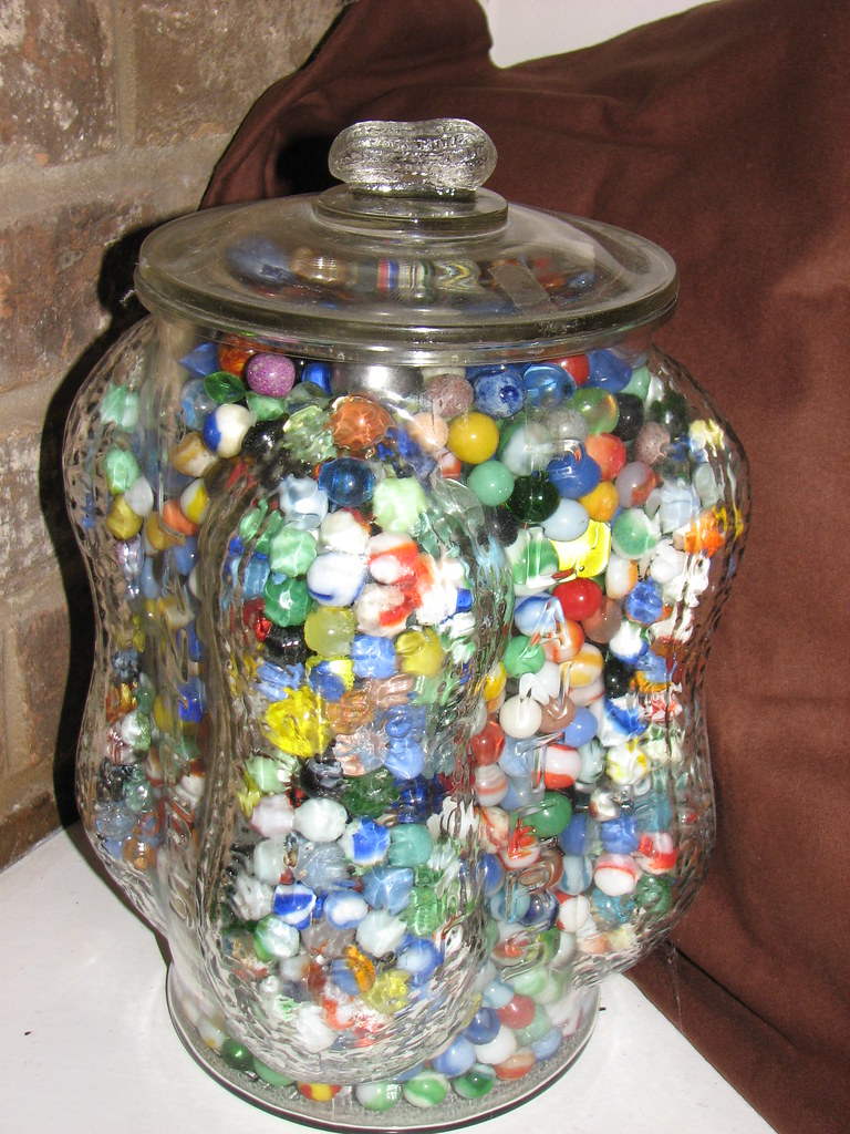 I Keep My Marbles In A Jar A Very Old Planters