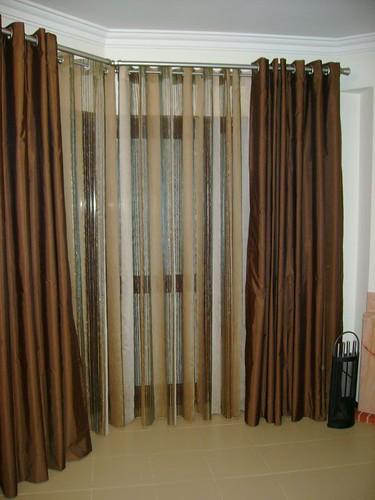 Cortina de sala varao curvo paula flickr for Como hacer cortinas para sala