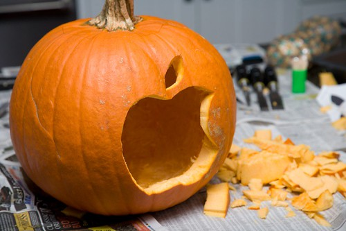Apple Logo Pumpkin | by kendallkoning