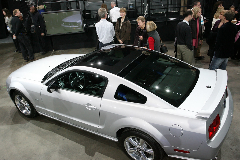 2009 Mustang With Glass Roof Side View From Ford Auto