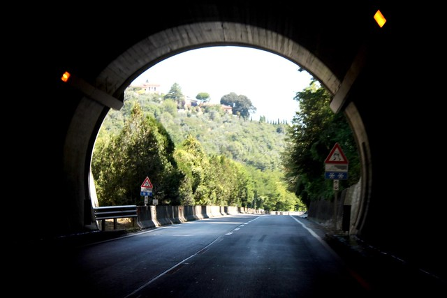 Driving through Tuscany