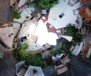 The George in Rye courtyard - stereographic 360 panorama | by strollerdos