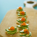 hors d'oeuvres on wood